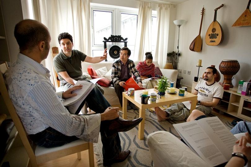 A Bahá'í study circle in London, United Kingdom