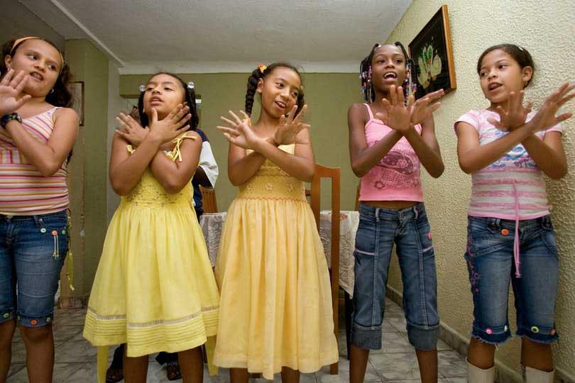 Children dancing at their children's class